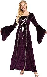 Plus Size Medieval Dress, Renaissance Princess Costume for Women