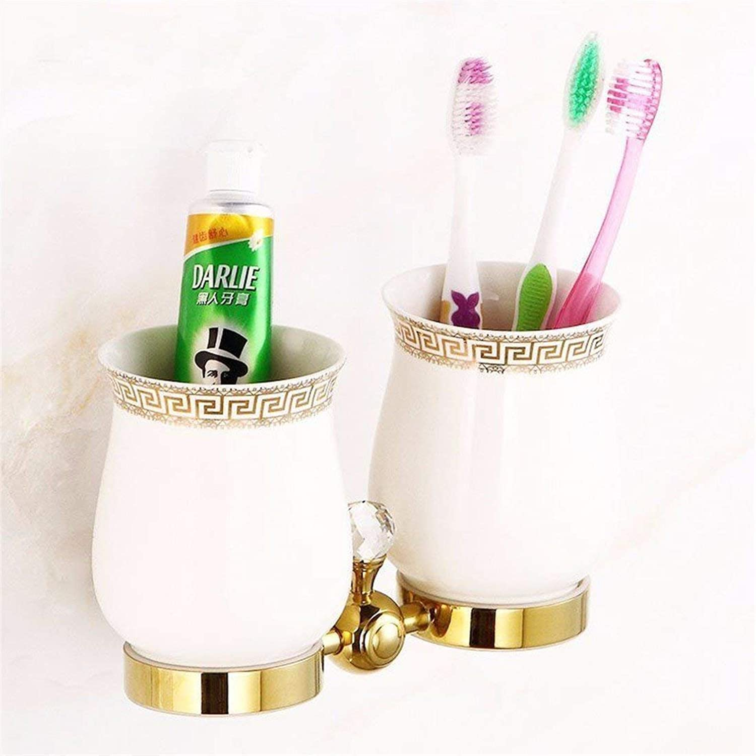 The Base of gold in Cristal Pendentif Copper Hook Hook All Bathroom, Double Cup