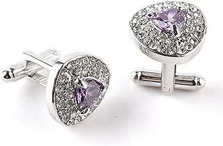 negocios para hombres fiestas cuadrado gemelos de regalo 1,8 x 1,8 cm para camisa bodas Wicemoon Gemelos para hombre dise/ño de diamante