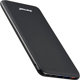 Charmast Batería Externa Carga Rápida 26800mAh Power Bank Quick Charge QC 3.0 Cargador Externo Power Delivery con 3 Entradas y 4 Salidas Ultra Alta Capacidad para Samsung iPhone iPad Pro Macbook