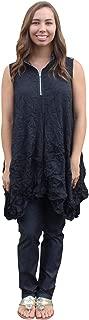 Women's Crushed Crepe De Chine Verona Vest in Black