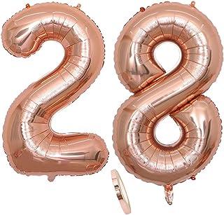 XL Helium diapositives Ballon Gold chiffres deux Transparent Nombre 2 Cadeau D/'Anniversaire