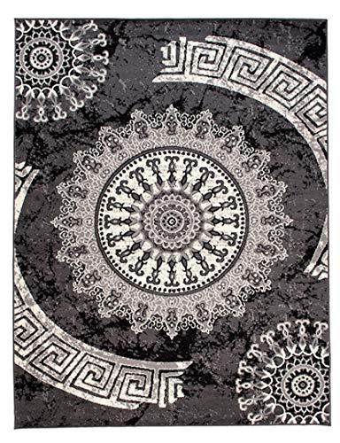 Cristina Carpets Cheap k870a 160x 220cm Alfombra Moderno para salón y entornos clásicos y Modernos Marrón Gris Oscuro