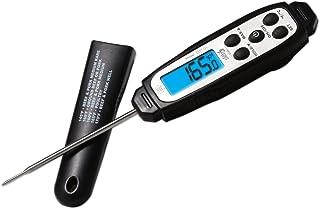 EatSmart ESFT-01 Precision Instant Read w/Splashproof Design and Backlit Scr Pro Digital Thermometer, One, Black
