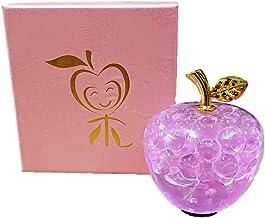 クリスタルアップル ピンク 誕生日 記念日 お祝い プレゼント ギフト 還暦 退職 母の日 敬老の日 クリスマス 女性 男性 贈り物 風水 置物 インテリア