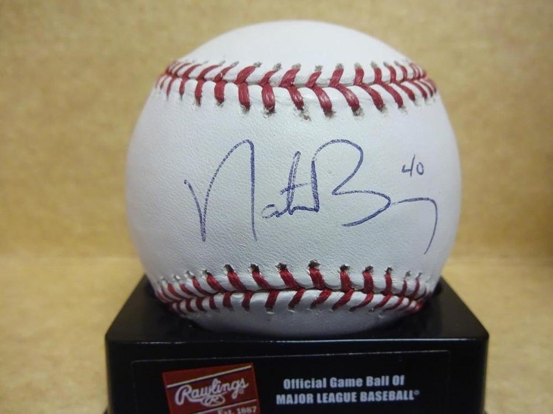 Nate Bumo Marlins Phillies Signed M.l. Baseball W coaAutographed Baseballs