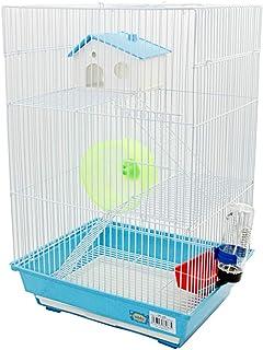 DZL- Jaula para Hámster Roborowski 34.5 * 28 * 53.5CM Extra Grande Jaulas para Roborowski caseta con Bebedero comedero Rueda y Escalera,Color Azul/Purpura/Rojo se Entrega al Azar