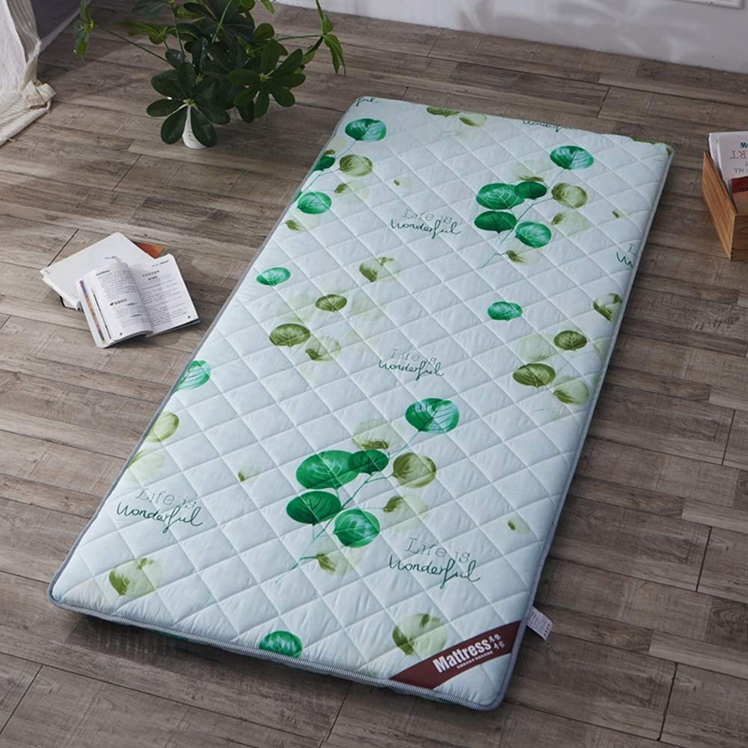 Breathable Mattress Mat Topper Pad, Foldable Sleeping Bed Pad Tatami Bed Roll Floor Mat Japanese for Dorm Home -f 90x200cm(35x79inch)