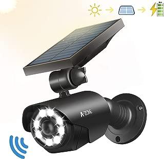 Solar Motion Sensor Light Outdoor - 800Lumens 8 LED Spotlight 5-Watt Solar Lights Outdoor IP66 Waterproof, Wireless Solar Flood Light for Porch Garden Patio Driveway Pathway,Aluminum(Black)