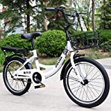 YAALO Frauen Straßenradfahren,20 Zoll Fahrrad Für Erwachsene Männer Und Frauen Jugendliche 6 Speed Speed Bicycle Ultra Light Tragbar-Einzelne Geschwindigkeit20Zoll weiß