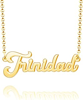 Moonlight Collections Personalized Name Necklace 24k Gold Plated Sterling Silver Custom Nameplate