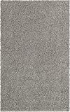 Unique Loom Solo Solid Shag Collection Area Modern Plush Rug Lush & Soft, 5' 0 x 8' 0, Cloud Gray