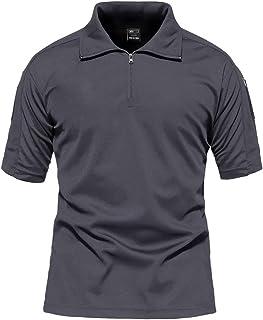 MAGCOMSEN メンズ Tシャツ ポロシャツ 半袖 吸汗速乾 耐摩耗 鹿の子 作業着 シャツ 登山 釣り 運動 アウトドア ファスナー ポケット付き