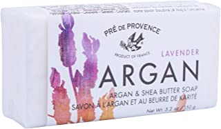 Pre de Provence Moroccan Argan Oil & Shea Butter Quad Milled Soap Bar (150 g) - Lavender