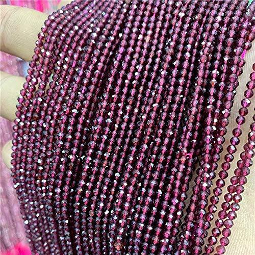 MARKOO 2 Mm M Piedra Natural Facetada Rosa Cuarzo Rosa Cuentas De Cristal Amatistas Redondas Cuentas De Aguamarinas para Suministros De Fabricación De Joyas DIY