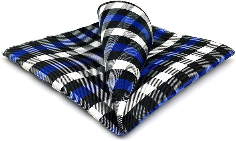 DIAOD Mens Pocket Square Wedding Silk Handkerchief Party Hanky Classic Fashion (Color : D, Size : 32x32CM)