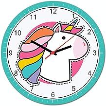 Relógio De Parede Unicórnio Beek Geek's Stuff Rosa