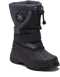 Unisex Boys & Girls Icy-61 Fur Lined Water Resistant Pull-Tie Tall Winter Rain & Snow Boots