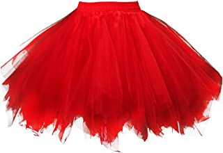 Kileyi Womens Tutu Costume Adult Party Dance Tulle Skirt Short Fluffy Petticoat