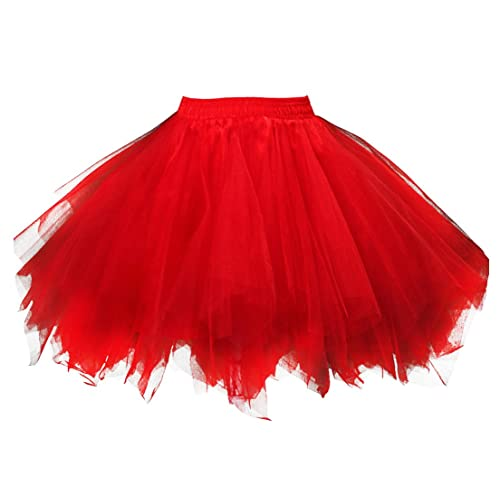 d2229ad500 Kileyi Womens Tutu Costume Adult Party Dance Tulle Skirt Short Fluffy  Petticoat