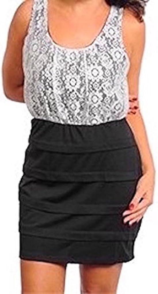 Final Sale- NO Returns Last ONE in Stock!! Plus Size Sleeveless Lace Metallic Bandage Dress