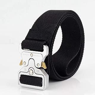 FEIKCOR Cintura Tattica Cintura da Uomo Heavy Duty Cintura Militare Cintura da 1,5 Cintura a sgancio rapido Cinturino in Nylon con Fibbia in Metallo