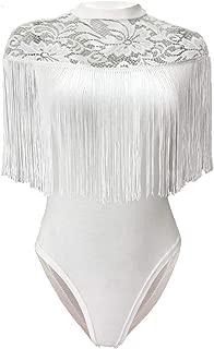 white fringe bodysuit