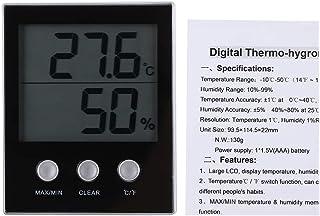 Ladieshow Termómetro Higrómetro, LCD Electrónico Digital Termómetro Interior Higrómetro Temperatura Humedad Monitor Monitor