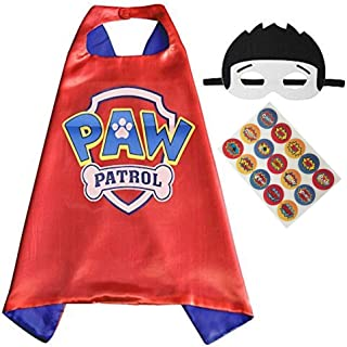 paw patrol cape and mask