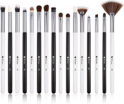 DUcare Eyeshadow Brush Set Professional Eyeshadow Brushes 16Pcs Panda Eye Makeup Brushes Eye Shadow Concealer Eyebrow...
