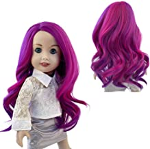 Curly Doll Wigs Heat Resistant Hair Trendy Girl Doll DIY Accs Wig Purple