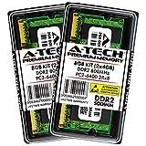 A-Tech 8GB Kit (2x4GB) Max RAM for Dell Inspiron 1440, 1545, 1546, 1750, Zino HD 400 - DDR2 800Mhz PC2-6400 SODIMM Max Memory Upgrade
