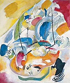Improvisation 31 Sea Battle 1913 Wassily Kandinsky Abstract Contemporary Print Poster 26x32