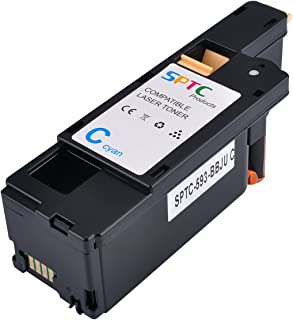 1400 Pages SPTC High Yield Compatible Dell E525W E525 525 Toner Cartridge for Dell Color Multi Function E525W Printers 1 Pack 593-BBJU Cyan