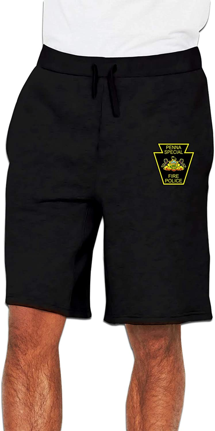 Pa Special Fire Police Men's Joggers Cotton Sh Shorts Sweatpants Popularity Free shipping on posting reviews