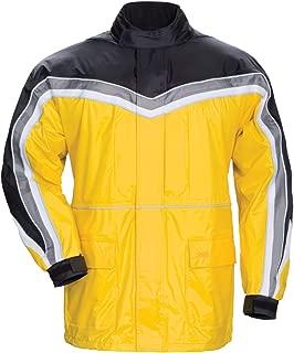 Tour Master Elite II Men's Street Motorcycle Rainsuit - Yellow/Black/Medium