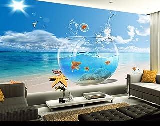 Sea View Fish Aquarium Photo Wallpaper Mural de pared para sala de estar Dormitorio Habitación de niños Decoración de pared 350 * 245Cm