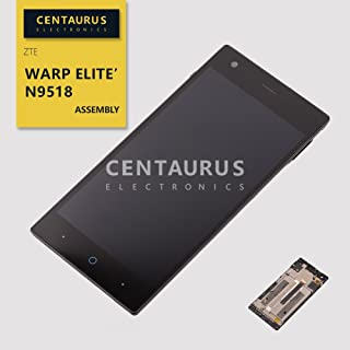 CENTAURUS Replacement for ZTE Warp Elite Assembly Touch Screen Digitizer LCD Display Frame Panel Full Part Compatible with ZTE Warp Elite LTE N9518