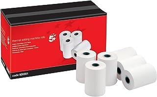 5 Star - Papel térmico para calculadora con impresora (57 x 40 x 12,7 mm, 20 unidades)