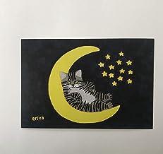 猫の足あと ポストカード「月のブランコ」