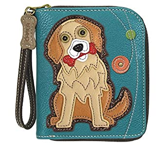 CHALA Pal Zipper Wallet Collection (Golden Retriever - Turquoise)