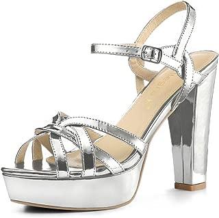 Best metallic platform chunky heels Reviews