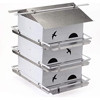 Birds Choice PMW3 3-Floor 6-Suites Reflective Roof, Ceiling Panel for Ventilation Starling Resistant Purple Martin House