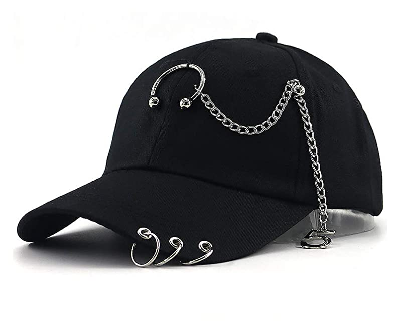 Strawberries Cake Fashion Baseball Cap Cotton Adjustable Iron Chain Patchwork Hip hop Sports hat for Men Women Curved caps
