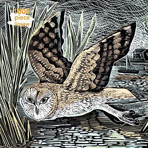 Puzzle - Angela Harding: Sumpf-Eule: Unser faszinierendes, hochwertiges 1.000-teiliges Puzzle (73,5 cm x 51,0 cm) in stabiler Kartonverpackung