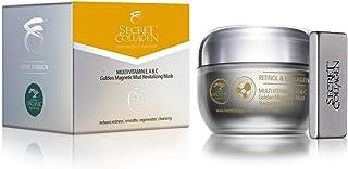 Secret Collagen Flawless Skin Care Multivitamin E, A & C Golden Magnetic Mud Revitalizing Mask - Reduces Re...