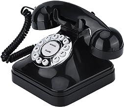 $46 » Goshyda Telephone, WX-3011 Vintage Black Multi Function Plastic Home Telephone Retro Wire Landline Decoration Phone