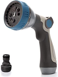 JUSTCOME Garden Hose Nozzle Sprayer - Water Hose Spray Nozzle Heavy-Duty - 8 Patterns High Pressure Garden Hose Nozzles - Best for Outdoor Watering Plants, Lawns - Car Washing, Patio & Pets Showering