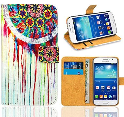 Samsung Galaxy Grand Neo / Grand Neo Plus Handy Tasche, FoneExpert® Wallet Hülle Flip Cover Hüllen Etui Ledertasche Lederhülle Premium Schutzhülle für Samsung Galaxy Grand Neo / Grand Neo Plus (Pattern 14)