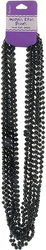 Darice Mardi Gras Ketten sortiert Farben und Formen  Mar159-schwarz-6mm